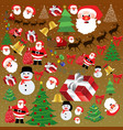 background texture with christmas elements vector image