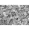 Doodle black and white abstract hand-drawn vector image