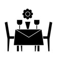 restaurant table with chairs icon vector image