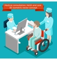 Medical consultation Health and care 3D isometric vector image