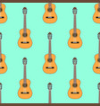 seamless classical acoustic guitar pattern on vector image