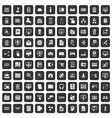 100 database icons set black vector image vector image