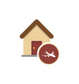 a house icon with a plane vector image