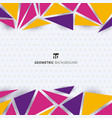 abstract template modern style colorful geometric vector image vector image