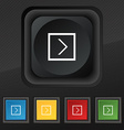 Arrow right Next icon symbol Set of five colorful vector image