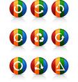 Arrows buttons vector image vector image