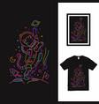 astro cat monoline t shirt design