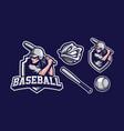 baseball girl mascot logo design vector image vector image