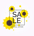 beautiful bright background sale and discount vector image