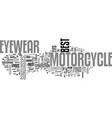 best find motorcycle eyewear text word cloud vector image vector image