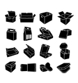 Boxes of different shapes icons set simple style vector image vector image