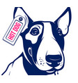 bull terrier hot dog vector image vector image