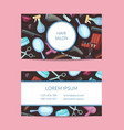 business card template with hairdresser or vector image