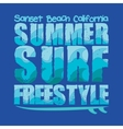 California surfing T-shirt vector image