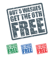car wash stamps vector image vector image