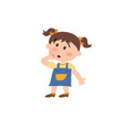 cartoon character girl in surprise vector image vector image