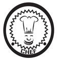 chef logo vector image vector image
