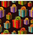 Colorful group of gift boxes pattern vector image