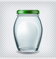 container with red cap for storage honey vector image vector image
