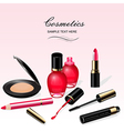 Cosmetics background vector image vector image