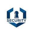 creative abstract open lock logo vector image