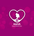 creative womens day event banner in heart style vector image