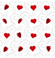 Curly or swirly background with 3d hearts