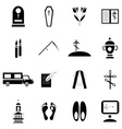 Death and funeral icons set simple style vector image vector image