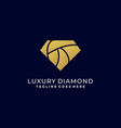 diamond luxury template design vector image vector image