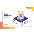 email marketing mail automation strategy vector image vector image