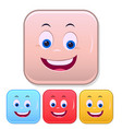 emoji face smiling emoticon cute smiley colorful vector image vector image