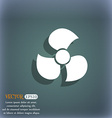 Fans propeller icon sign On the blue-green vector image