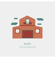Farming icon of the barn isolated on white vector image vector image