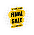 final sale banner special offer up to 70 off