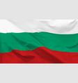 flag republic bulgaria vector image vector image