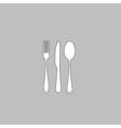 fork spoon knife computer symbol vector image vector image
