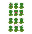 frog character emotions vector image