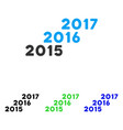 from 2016 to 2017 years flat icon vector image vector image
