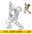 funny boy in costume of retro disco singer vector image