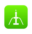 gas flaring icon digital green vector image vector image