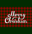 gingham christmas red green traditional pattern vector image vector image