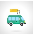 Green toy bus flat color icon vector image