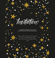 hand painted stars vector image vector image