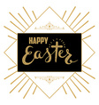 Happy Easter Hand drawn lettering Easter greeting vector image vector image