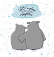 hippo male gives a hug to female lets vector image vector image