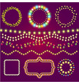 holidays colorful light casino winner collection vector image vector image
