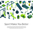isometric gym with place for text vector image