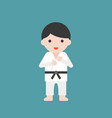 karate or judo athlete cute character vector image