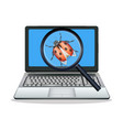 laptop found computer bug vector image