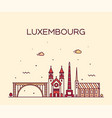 luxembourg skyline linear style city trendy vector image vector image